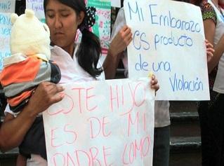 Concentración por el derecho al aborto en casos de violación