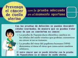 El cáncer de cuello de útero y las pruebas para su revisión