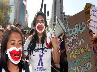 Manifestantes derecho al Aborto