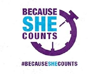 Logo Campaña Because She Counts