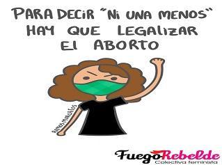 Lema Convocatoria NiUnaMenos sobre el Aborto